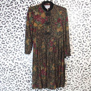 Vintage Jessica Howard Floral Pleated Dress S/M